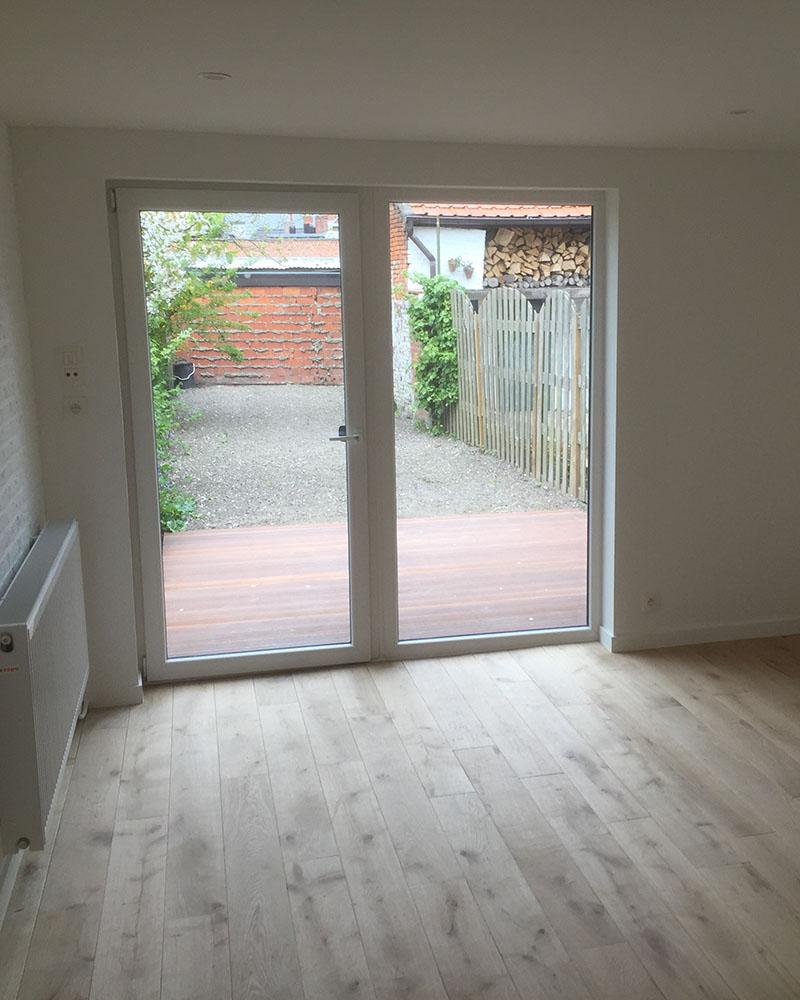 Pose d'une porte veranda en PVC
